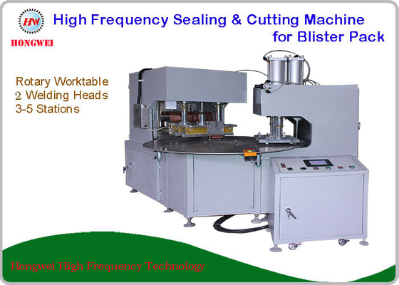 HF Blister Pack Sealing & Cutting Machine With High Efficiency Rotary Worktable
